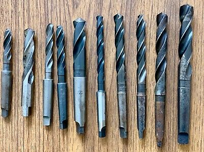 Taper Shank And Straight Shank High Speed Drill Bits Usa Made Set Of 10