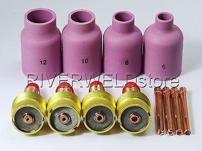 Large Diameter Alumin Nozzle Gas Lens Collet Bodies Wp 17 18 26 Tig Welder Parts