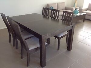 Tasmanian Oak Timber Dining Table and 6 chair set Camden Camden Area Preview