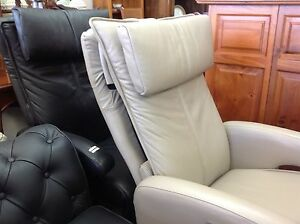 Leather electric recliner armchair. Swivels. 2 available $950 eac Ashmore Gold Coast City Preview