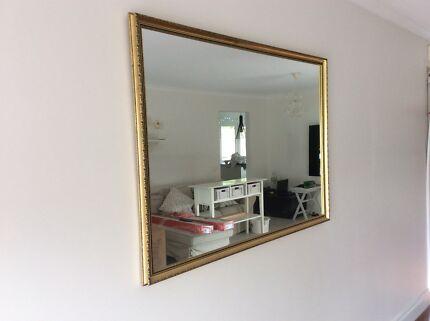 Mirror framed gold leaf