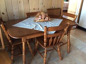 Solid Maple Table and six chairs plus extension. (Fort Frances)