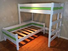 Single bunk bed wooden loft boys girls Sydney delivery solid wood Windsor Hawkesbury Area Preview