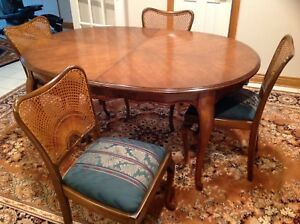 Dining room set Antique Queen  Anne circa 1890.