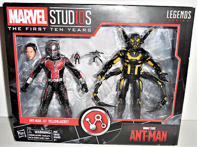 MARVEL LEGENDS SERIES FIRST TEN YEARS ANT-MAN & YELLOW JACKET ACTION FIGURES