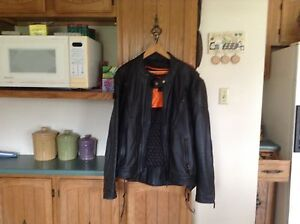 Mens leather jacket with chaps