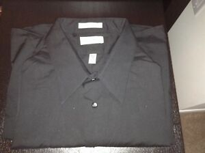 Van Heusens Men's Dress Shirt - brand new black