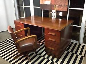 Beautiful 60's Retro-Vintage Partners Desk-Timber-Can Deliver Arncliffe Rockdale Area Preview