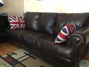 3 seater real leather couch