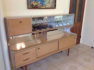 Retro cocktail cabinet 1960's bar wall unit Berkeley Vale Wyong Area Preview