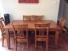 Solid timber 6 seater dining table & chairs Grays Point Sutherland Area Preview