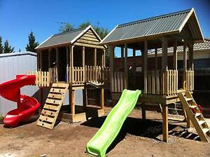 Country Cubbies - Ultimate Fort Playhouse with Tornado Slide Pakenham Cardinia Area Preview
