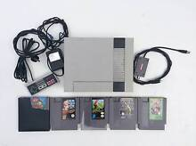 Nintendo NES + 5 games (various condition) Woodville South Charles Sturt Area Preview