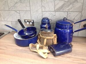 Antique collection Blue Enamel military n pots ... Winmalee Blue Mountains Preview