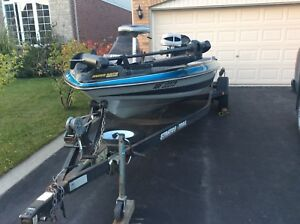 16 foot Stratos Bass Boat and Trailer