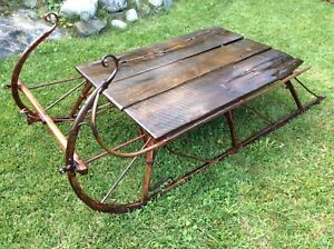 Beautiful Antique Cutter Sleigh table