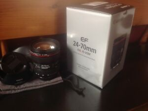 Canon 24-70mm f4L for sale. $600