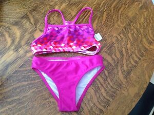 Brand New Speedo Girls Sz 8 Bathing Suit