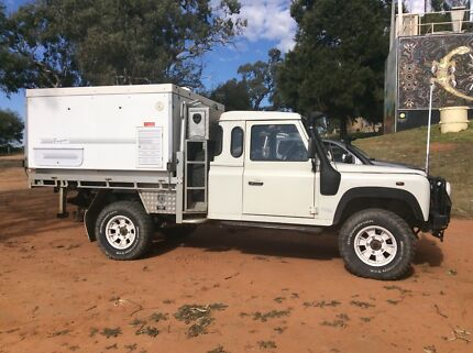 2001 Land Rover Defender Ute with 2009 Trayon Camper