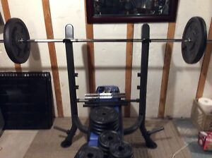 Bench press/steel weights