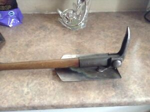 WARTIME TRENCH SHOVEL WITH LEATHER CASE