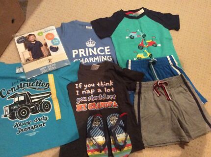 Boys Size 2 NEW Summer Clothes and Mambo Thongs