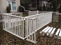 Deck railings PVC