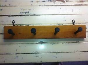 Rustic Country Style Railway Peg Hat Coat Rack Wilston Brisbane North West Preview