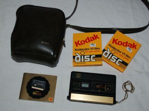 Vtg Kodak Disc 8000 Disk Film Camera w/Case, Instructions & 2 Sealed Film Discs