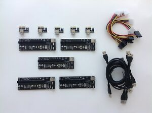 Riser Card ver.6 PCI-E Express 1X to 16X With USB 3.0 Extender