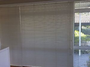 Horizontal Blinds- plantation style white Drummoyne Canada Bay Area Preview