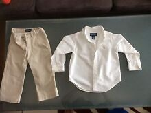 Polo Ralph Lauren white Shirt and cream pants size 2 Glenhaven The Hills District Preview