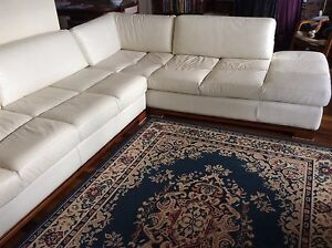 Large, Comfortable and stylish DeCoro leather lounge and chaise Wollongbar Ballina Area Preview