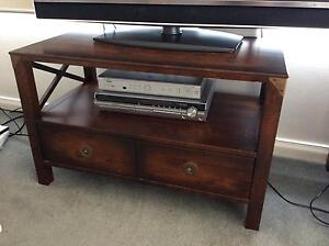2 Drawer Media Unit/ Coffee table in Chestnut - MUST SELL ASAP Kotara Newcastle Area Preview