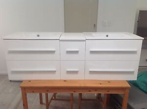 Bathroom vanity double wall hung sink 1500mm Wynn Vale Tea Tree Gully Area Preview