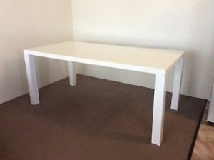 White gloss finish dining table Mosman Mosman Area Preview