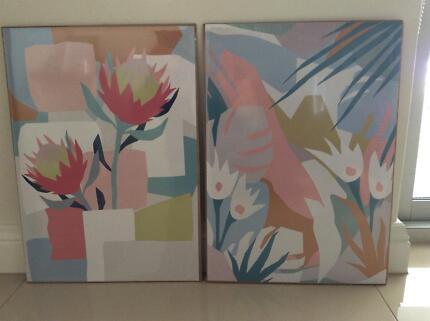 A3 size floral design wall art prints- new!