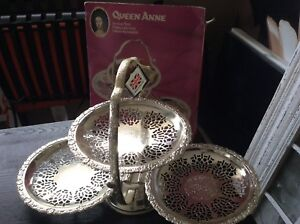 Queen Ann Silver Plated Cake Stand