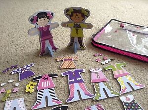 Melissa and Doug Wooden magnetic dolls