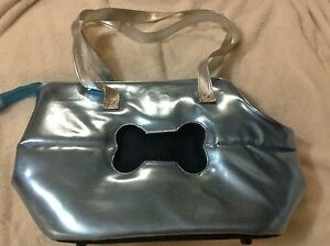 Dog / cat carrier, great for shopping, trip, metallic blue