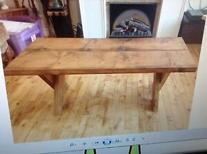 """Rustic coffee table h 18"""" w 24"""" l 48"""" $80.00"""