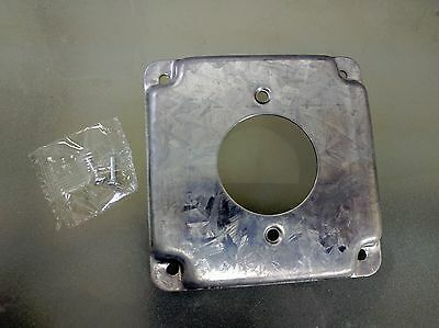 """4/"""" Square Finished Industrial Cover Single Receptacle Electrical Box Outlet"""