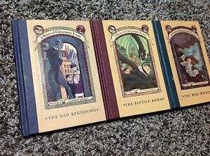 A Series of Unfortunate Events - Books 1, 2, and 3