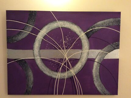 Purple and silver painting