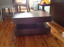Chocolate timber lamp table or side table- great modern look! Mount Lewis Bankstown Area Preview