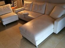 KING FURNITURE WHITE LEATHER LOUNGE SUITE,  MODULAR DELTA Arcadia Hornsby Area Preview