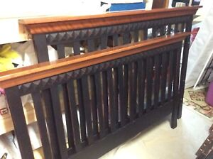 Morigeau Lepine Crib/Double Bed set and matching Dresser