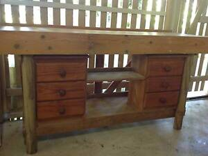 WORKBENCH sturdy timber, carpenter built Paddington Brisbane North West Preview