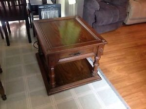 "Wooden table 21"" tall x 28"" long x 24"" wide"