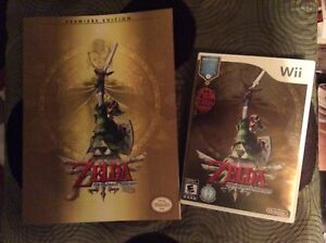 Wii Zelda Skyward Sword game plus strategy guide book